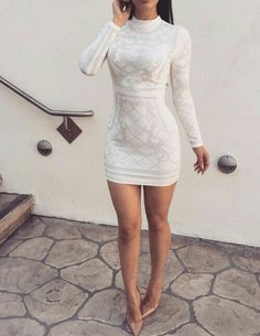 dress, style, and outfit image Hoco Dresses, Cute Dresses, Beautiful Dresses, Dress Outfits, Fashion Outfits, Long Sleeve Homecoming Dresses, Beautiful Live, Fashion Clothes, Fashion Fashion