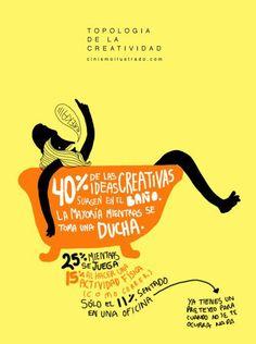 La creatividad: surge cuando no se espera...