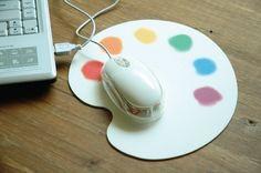 Palette Designed Mouse Pad
