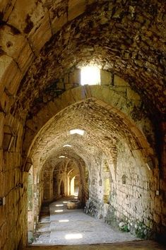 """A Medieval Castle in the Middle East - A surviving Latin inscription on one of the lintels may be interpreted as a warning against complacency to knights too assured of their safety: """"Grace, wisdom and beauty you may enjoy, but beware pride, which alone can tarnish all the rest."""""""