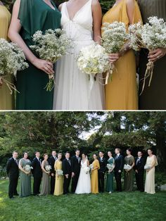Liking the floaty maid 39 s gowns and super simple and so for Green bay packers wedding dress