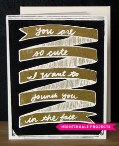 You are so cute I want to punch you in the face #sweetgreetingcard #greetingcard #stationary