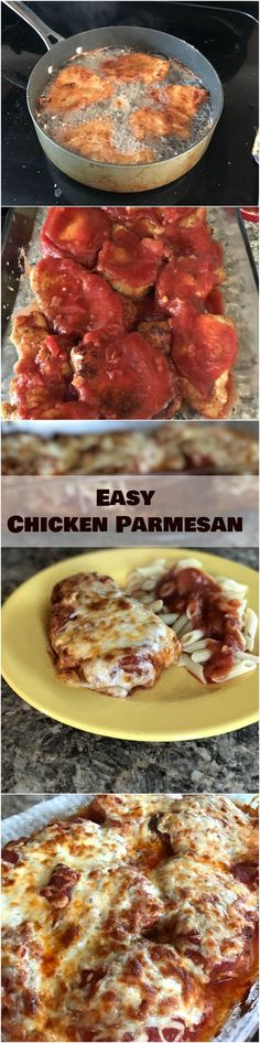 This dinner recipes is very popular in our house - Easy Chicken Parmesan - It's really easy to make and it's delicious. It's my go-to meal when we have company or special occasions!