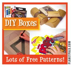 DIY Boxes from Recycled Materials plus Free Patterns…For #Green er #Holidays and #gifts