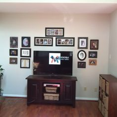 Picture wall above tv