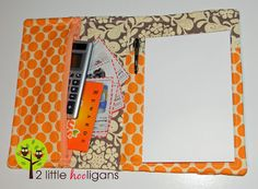shopping list and coupon organizer tutorial (Find a way to do this w/ just scrapbook paper & no sewing for MOPS) Sewing Hacks, Sewing Tutorials, Sewing Crafts, Sewing Projects, Diy Projects, Sewing Ideas, Fabric Crafts, Sewing Patterns, Bags Sewing