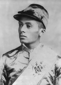 Isaac Burns Murphy, A jockey who won his first race at Crab Orchard, went on to win the Ky derby 3 times, and was the fist jockey inducted into the Jockey hall of fame.