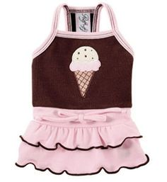 Ice Cream Cone Pet Dress- Perfect Summer Dog Dress