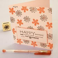 Floral Birthday Card by: JennyPearce