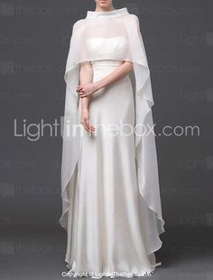 Wedding Wraps / Hoods & Ponchos Capes Sleeveless Tulle Ivory / White Wedding / Party/Evening / Casual High Neck Ruffles Pullover 2016 - €48.99