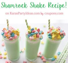 Easy Lucky Shamrock Shake Recipe! - Kara's Party Ideas - The Place for All Things Party