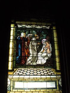 Stained Glass window in the chapel at Castle Howard