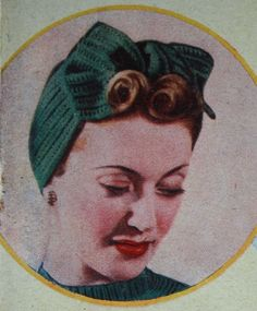 1940's Vintage Knit Turban Pattern | 1940s Style For You