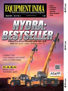 Equipment India March 2016 Issue- Hydra: Bestseller  #EquipmentIndia #MakeInIndiaWeek  #MachineControlTechnology #ebuildin