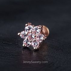 [ Materials ] - Brass plated gold / silver / rose gold - Surgical stainless steel - Zircon [ Measurement ] - Gauge: 16 G mm) - Bar length: - The front of the earring dimension: x Daith Earrings, Cuff Earrings, Simple Earrings, Dermal Jewelry, Labret Jewelry, G 1, Ear Piercings, Piercing Daith, Bridesmaid Earrings