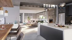 #house #modernhouse #modernhome #design Best Modern House Design, Modern Design, Modern Houses, House Styles, Kitchen, Table, Room, Furniture, Home Decor