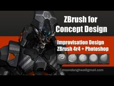 ZBrush for Concept Design - Hard Surface Mech - YouTube