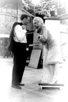 Marilyn and Wally Cox on the set of Something's Got To Give, 1962.