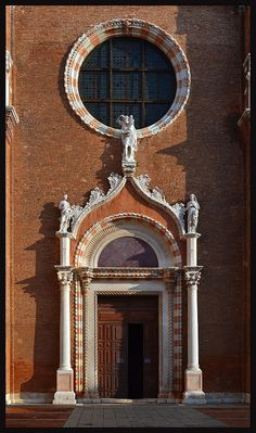 Gothic Portal      The door to the church of Madonna dell'Orto in Venice
