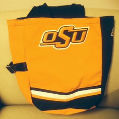 Small Tote, made from an old Oklahoma State University Cowboy Marching Band uniform