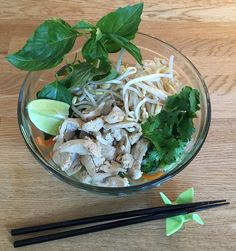 Pho with Trader Joe's Chicken-less Strips and all the fixin's