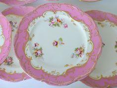 Hannah's 16 pink gold plates