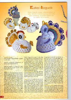 Crochet hen -- my sister so needs these Crochet Cozy, Crochet Birds, Easter Crochet, Love Crochet, Crochet Animals, Crochet Doilies, Crochet Hats, Easter Art, Easter Crafts