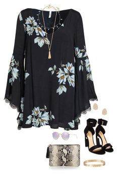 """"""""""" by olivia524 on Polyvore featuring Free People, Nicholas Kirkwood, Kendra Scott, Accessorize, Ray-Ban, GiGi New York and Cartier"""