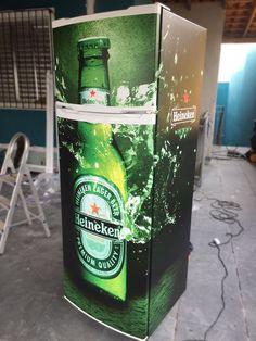 Envelopamento de geladeira - Heineken
