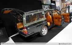 "Paris Motor Show ""Cars & Fashion"" Display, Hermés Volvo 240 Turbo Station Wagon"