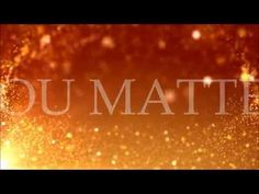 """For King & Country - Matter  """"To the one who took the tree so He could say you matter..."""""""