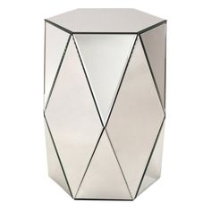 Aspire Home Accents Sienna Mirrored Pedestal Table - 8920