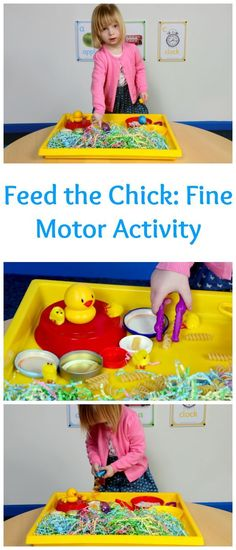 Feed the Chick: a fun fine motor skills activity