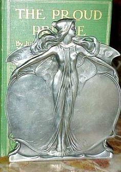 Art Nouveau Pewter Bookends
