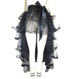 Lend Gothic charm to your festive attire using this Makers Halloween Adult Steampunk Wraparound Tutu. Perfect for fancy Halloween dressing and theme parties, this sheer, tiered, tutu skirt features an