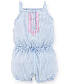Carter's Baby Girls' Ticking-Stripe Romper
