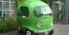This Custom Pea-Shaped Car with Volkswagen Lights Was Built for An Old Birds Eye TV Commercial Pretty Cars, Cute Cars, Funny Cars, Vw T1, Volkswagen, Wolkswagen Van, Carros Retro, Automobile, Weird Cars