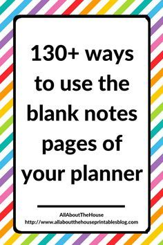 how to use blank notes pages of your planner empty notebook planning Wine Bottle Crafts, Mason Jar Crafts, Mason Jar Diy, Galaxy Bath Bombs, Diy Hanging Shelves, Thing 1, Mason Jar Lighting, Planner Organization, Organizing