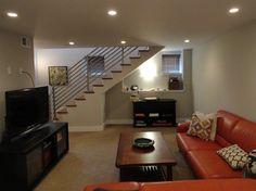 Contemporary Basement Design   1430 Modern Basement Design Photos & 15 best Basement lounge images on Pinterest   Basement ideas ...