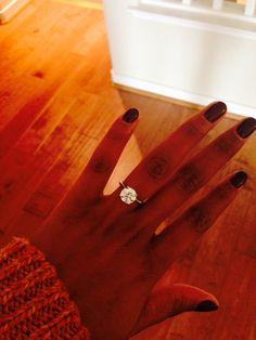 Gorgeous, simple, brilliant round engagement ring!! @Micah Sargisson White