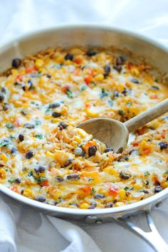 Cheesy Enchilada Rice Skillet ~ this is amazing!
