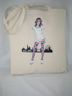Tote Bag 100% Cotton Union Alice design 92bE from by AliceBrands Fab, Fun Tops, Tees and Totes... http://etsy.com/uk/shop/AliceBrands http://alicebrands.co.uk/Categories/31/Tee+%27N%27+Totes