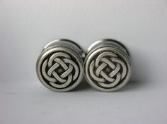 Inch Reversible Celtic Knot Plugs for Stretched Ears Sale Ear Jewelry, Body Jewelry, Gages For Ears, Different Ear Piercings, Tapers And Plugs, Tunnels And Plugs, Gauges Plugs, Body Piercings, Cover Tattoo