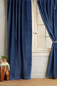 Matte Velvet Curtain - anthropologie.com