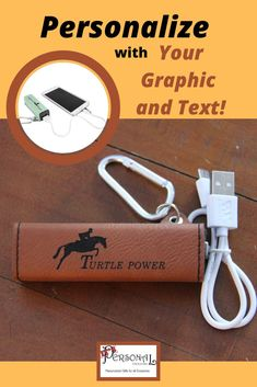 Your text and graphic are engraved on this portable power box. No more running out of power! Features a USB output and micro USB input (cord included). Compact and complete with a carabiner, the charger is perfect for clipping to your keychain, backpack, belt loop, or purse. 10 awesome colors to choose from. Perfect for Christmas gifts, Graduations, Birthdays, going away gifts, and more! #portablecharger #Chargerforphone #personalizedgift  #phonecharger #travelphonecharger #uniquegift