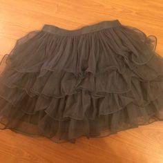 Dark grey ballerina skirt Grey ballerina skirt, tiered crinoline layers. Stylebook Skirts