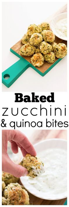 These delicious little Baked Zucchini, Feta and Quinoa Bites are packed full of great ingredients and flavors. Perfect as a main when paired with a salad, or as a fun addition to big and little lunch boxes. via @wholefoodbellies