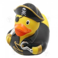 Pirate Rubber Duck: Only £4.99 from Toyday Toyshop. Toyday traditional & classic toys is an old fashioned toy shop on the high street and online. Merchants of traditional and classic toys, Toyday's focus is on good old fashioned customer service & traditional value.