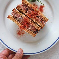 Corned Beef Pate Sandwich