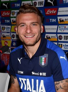 Ciro Immobile of Italy speaks with the media during a press conference at Casa Azzurri on June 10, 2016 in Montpellier, France.